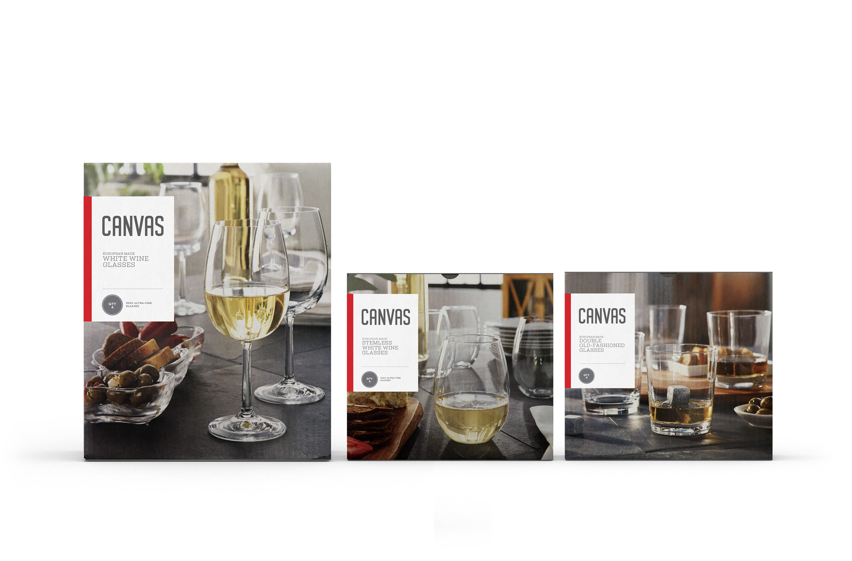 Canvas Glassware Packaging