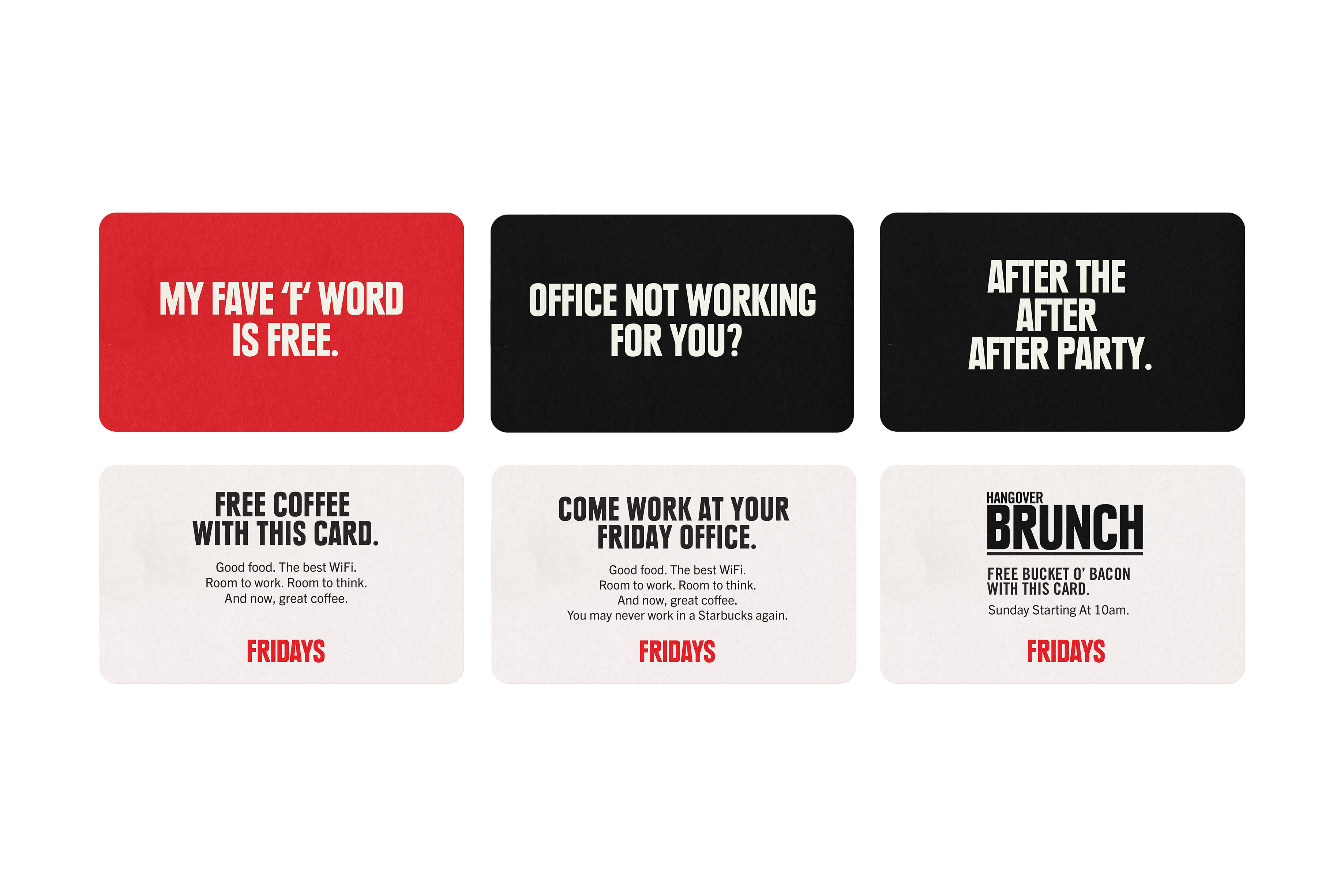 Fridays Activation Cards