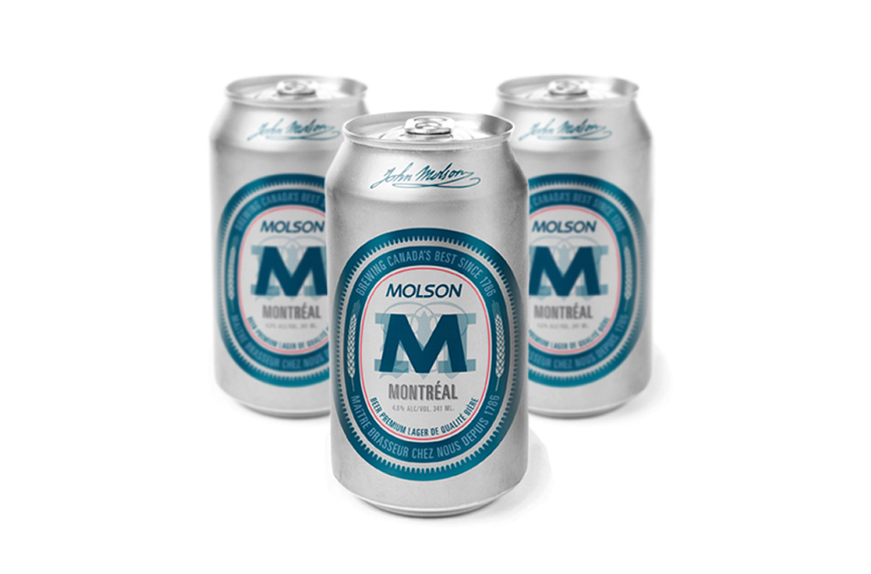 Molson Montreal cans