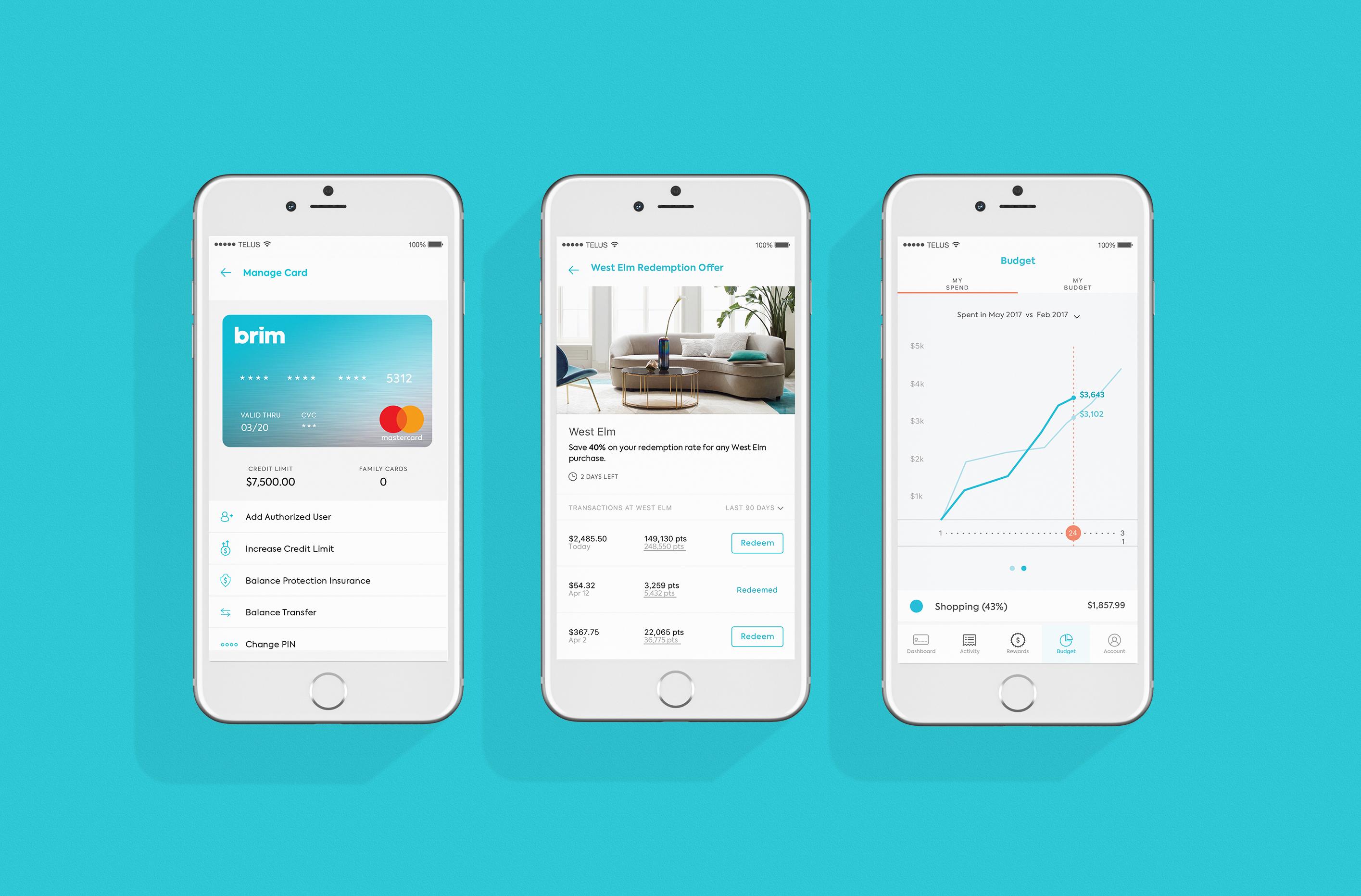 Brim App Screens
