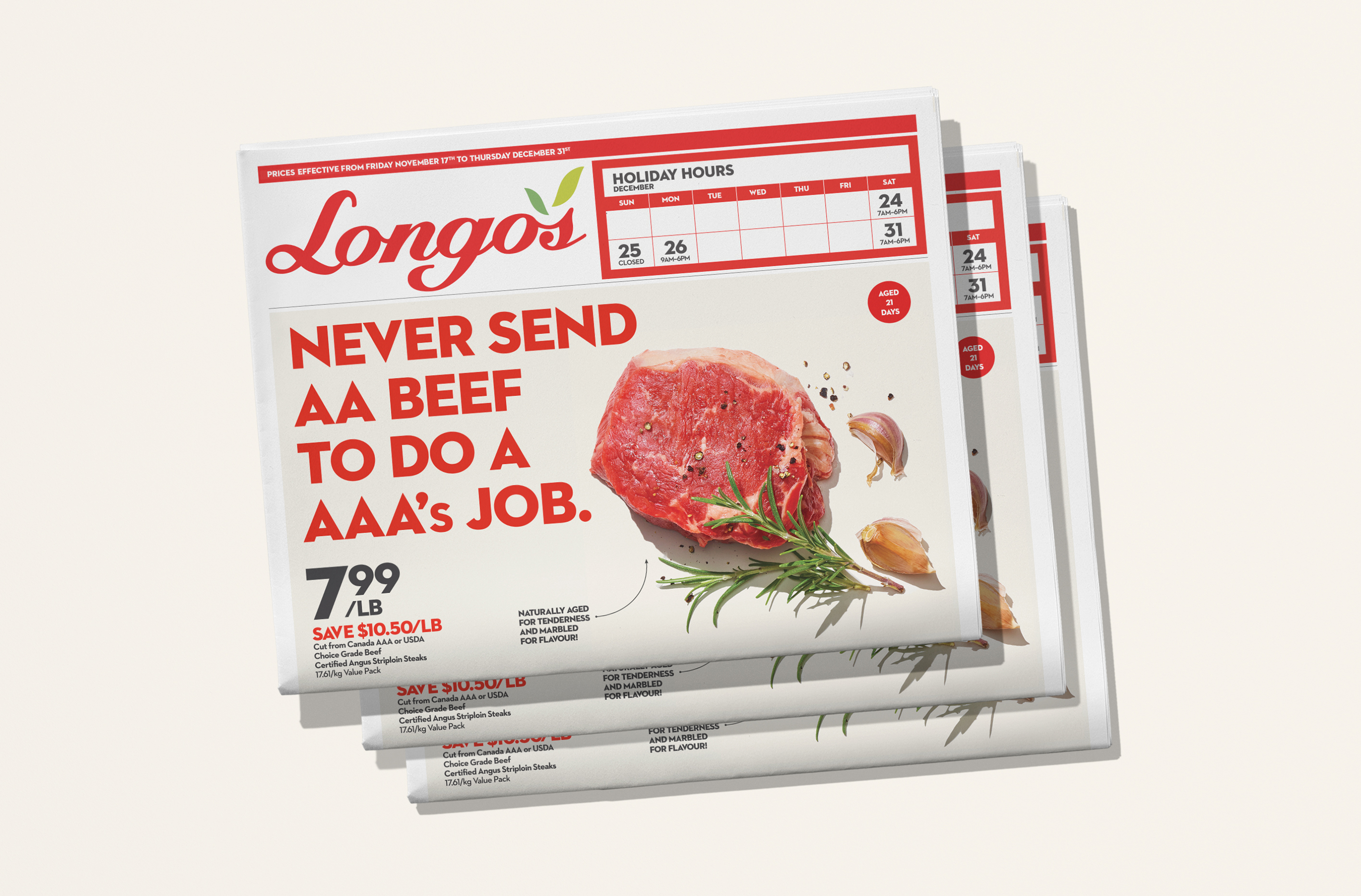 Longos Tabloid Flyer Cover