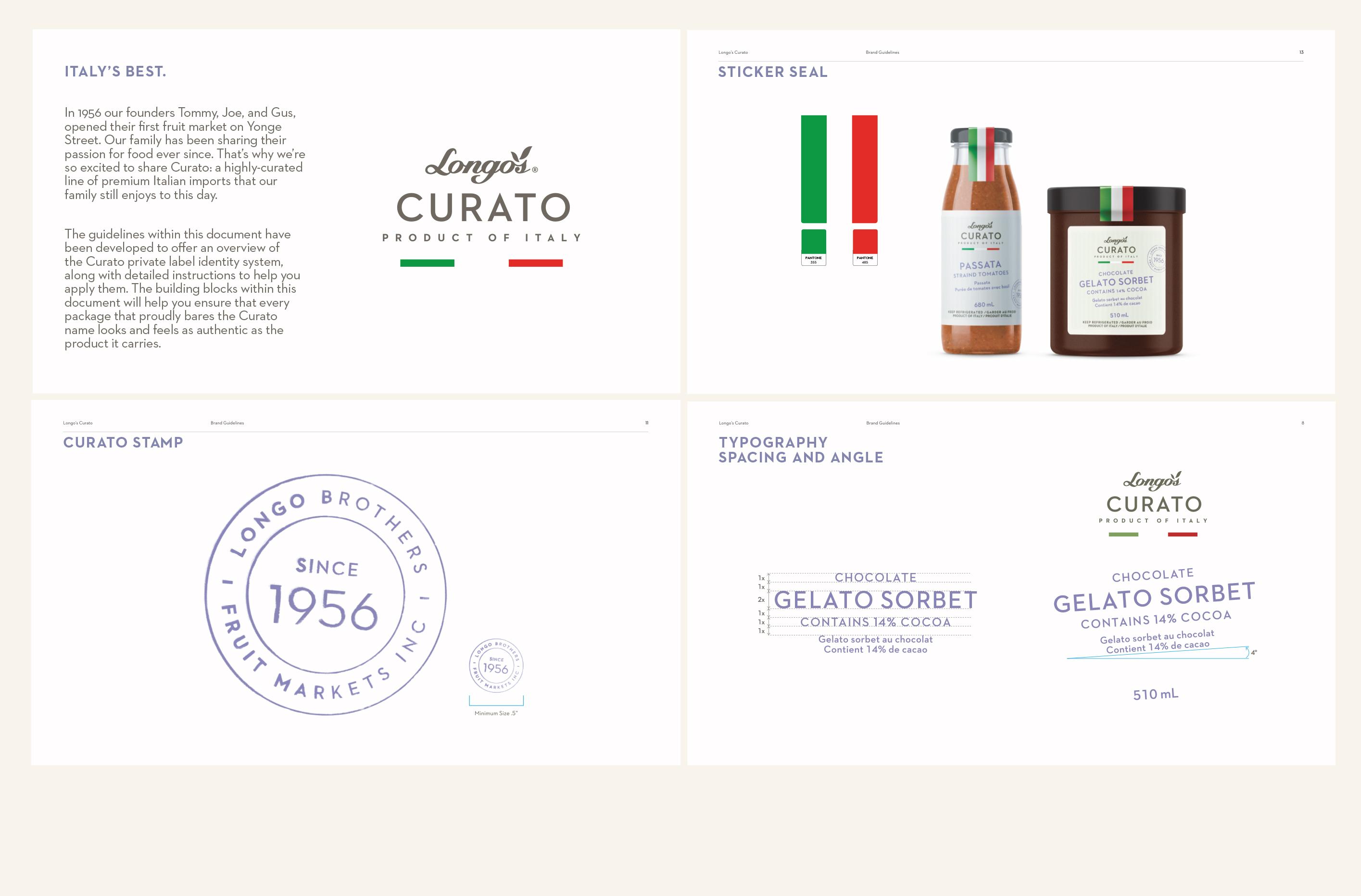 Longo's Curato Brand Guidelines